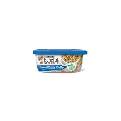 6 Tubs of Purina Beneful Prepared Meals Roasted Turkey Medley with Wild Rice, Sweet Potatoes, Peas & Barley Adult Wet Dog Food - 10 oz. ea
