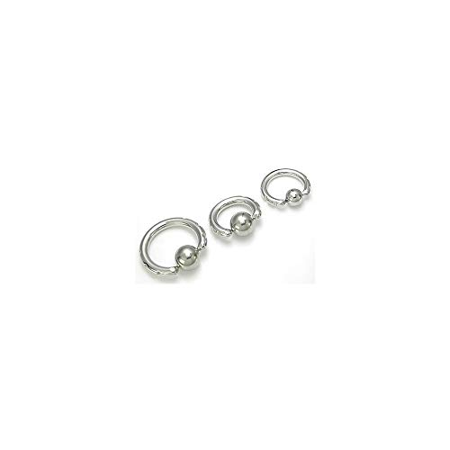 Painful Pleasures 14g-2g Techno Tribal # 3 Captive Bead Ring - 3mm ~ 8g - 13mm ~ 1/2