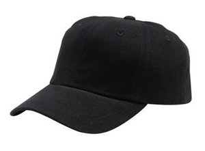Port Authority Brushed Twill Cap, Black, ()