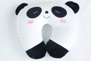 Generic Panda U-shaped Head Pillow Neck Pillow/Memory Pillow Back Cushion Car Travel Essential Pillow Car Accessories