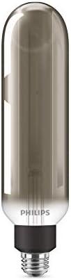 Foco Vintage T20 luz neutra atenuable E26 con acabado smokey grey
