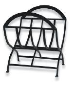 Best Quality Wrought Iron Log Holder - Black By Firewood Racks&More