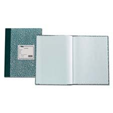 Lab Notebook, 10''x7-3/8'', 60 Sheets,Green Marble Qty:10 by Tops