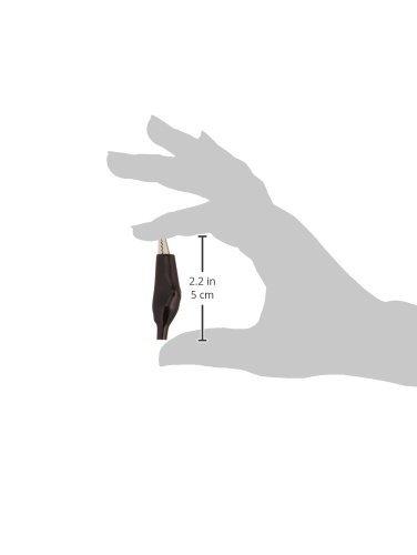 eDealMax 55 mm de Largo Rojo Negro de la bota Suave recubierto Prueba de cocodrilo Clip abrazaderas (4 piezas): Amazon.com: Industrial & Scientific