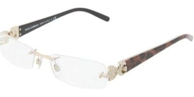 DOLCE&GABBANA D&G DG Eyeglasses DG 1158B PANTHER 1055 - And Dolce Rimless Eyeglasses Gabbana