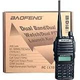 Kit 2 Rádio Ht Comunicador Baofeng Dual Band Uv82 Rádio Fm