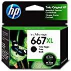 HP Cartucho Original de Tinta Negro de Alto Rendimiento 667XL (3YM81AL)