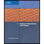 Guide to Programming With Python (08) by Dawson, Michael [Paperback (2007)]