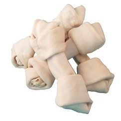 Bulk Rawhide Dog Bones 4''-5'' White - 50 pack