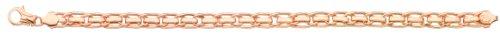 Diamantly - Bracelet Bicolore Barettes Grise - or 375/1000 (9 Carats) - Femme - Fille