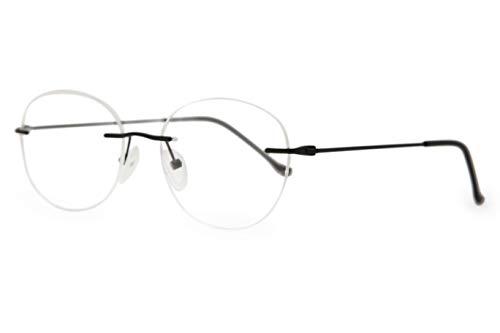 SmartBuy Collection Rubby Men's Prescription Eyeglass Frames - Rimless Round Designer Glasses Frame - Rubby - Eyeglasses Discount Rimless