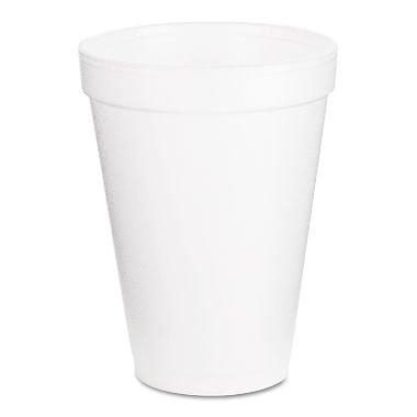 - Dart 12J12 Foam Cup Hot or Cold, 1000 per Case, 12 oz.