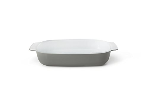 Creo SmartGlass Cookware, 1-quart Baking Dish, Brooklyn Grey