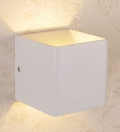 Encoft Wall Sconces Wall Lights LED 5W Aluminum Up and Down Design 2700K Warm White (Cube-warm white light)