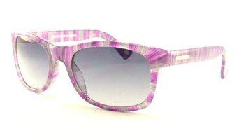 Skechers SK 4037 PUGRY Purple and Grey Stripe Wayfarer - 4037 Sunglasses