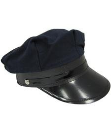 Jacobson Hat Company Adult Black Chauffeur Cap ()