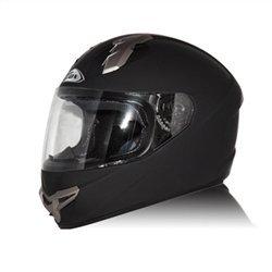ZOX Primo R sólido Fullface casco de motocicleta, color negro, Negro mate