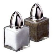 Dripcut Salt (Traex Dripcut Continental Square Salt and Pepper Shaker - Glass Jar, 1/2 Ounce -- 72 per case.)