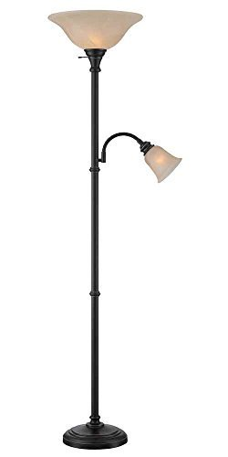 Lite Source Torchiere Lamps Ls-82550D/Brz Henley Torch/Reading Lamp, Dark Bronze by HI-Lite Source by HI-Lite Source