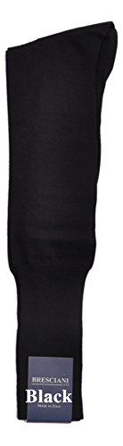 Certified Sea Island Cotton Over-the-Calf Socks 1 Pair Black X-Large