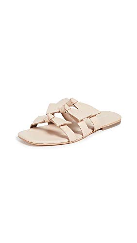 Jeffrey Campbell Women's Atone Bow Sandals, Natural, Pink, Off White, 6 M US
