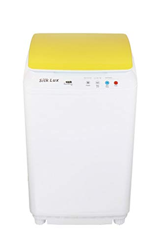 Silk Lux Compact 1.1 Cu.ft Full Automatic Washing Machine with Germicidal UV Light (Yellow)
