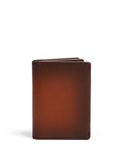 TUMI - Nassau Gusseted Card Case Wallet with RFID ID Lock for Men - Whiskey Burnished (Passport Whisky)