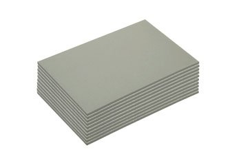 Lino : Grey : 10pack : 3.2mm : Block 300x400mm by NA