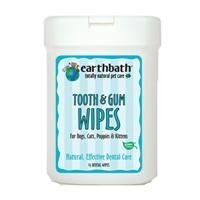 EARTHBATH-Tooth & Gum Wipes For Dogs, Cats, Puppies & Kittens 25 Ct. SINGLE by Earthbath