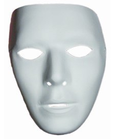 Halloween Costumes Jabbawockeez Mask (Blank Male Adult Mask, White,)