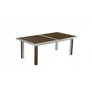 Table extensible alu et lattes bois COMPOSITE: Amazon.fr: Jardin