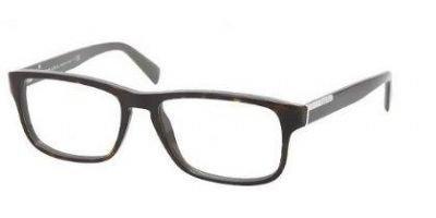 Prada PR07PV Eyeglass Frames KA51O1-5417 - Top Havana Gray Frame, Demo - Frames 2012 Prada Glasses