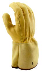 Stauffer Goatskin MIG/TIG Welders Gloves with Leather Gauntlet Cuff, Extra Large, (Pack of 12) by Stauffer Glove & Safety (Image #1)