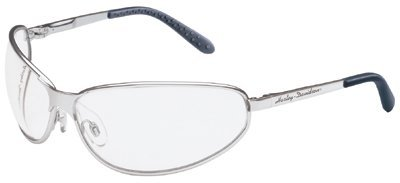 Harley-Davidson HD513 Safety Glasses with Black Matte Frame and Silver Mirror Tint Hardcoat Lens