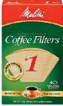 Melitta Premium Coffee Filters 40ct Natural Brown No.1 Filte