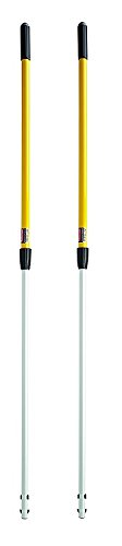 Straight Extension Handle - Rubbermaid Commercial Quick-Connect Straight Extension Handle, Yellow (FGQ75500YL00) (2 PACK)