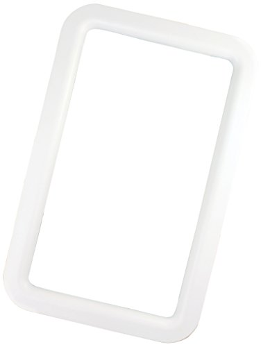 JR Products 11011 White RV Deluxe Entry Door Window Frame ()