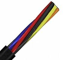 600v Black Nylon - 50ft 14 AWG 4C 14/4 Non-Shielded SDN Control Flexible Tray Cable - PVC/Nylon THHN/Neoprene - UL Type TC - 600V - E2 - Black