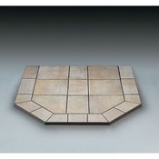 Chimney 49706 Carmel Tile Double Cut Stove Board- 48 in. x 48 in. (American Panel Carmel Tile)