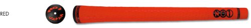 NO1 Grip 50 Series Round Golf Grip, Red, Mid Size