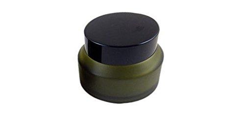 1PCS Green Glass Face Cream Bottle-Refillable