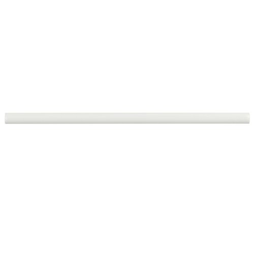 SomerTile WNU36CBB Penn Bianco Demi-Bullnose Ceramic Wall Trim Tile, 1/2