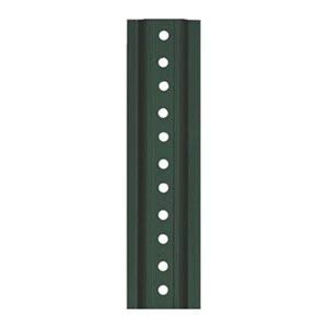 Tapco U-Channel Sign Post, 8'L, Green Post, Holes 30
