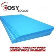 Electric and Water Underfloor Heating Tile Laminate Underlay Thermal Extruded Polystyrene Insulation Sheets QTY-16 XPS Foam Insulation Boards 1200 x 600 x 10mm Coverage 11.52m2