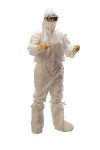Kimberly Clark Safety 88802 KIMTECH PURE A5 Sterile Coveralls, Large (Pack of 25)