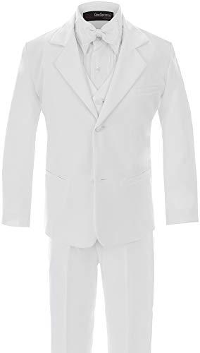 Little Boy's Usher Tuxedo Suit No Tail G210 (5, White)]()