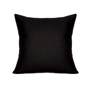 Plain Black Throw Pillow : Amazon.com: 16