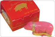 Holly Peppermint Pig Candy (3 Oz) Gift Box
