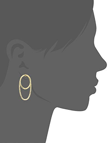 Buy fremada italian 14k yellow gold oval hoop earrings