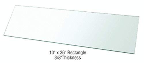"CRL 10"" x 36"" Rectangle 3/8"" Clear Tempered Glass Shelf - 2"